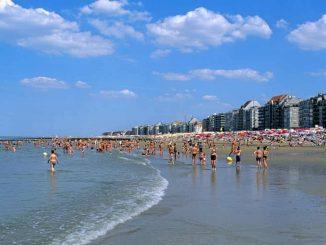 Rising sea levels Knokke-Heist Belgium